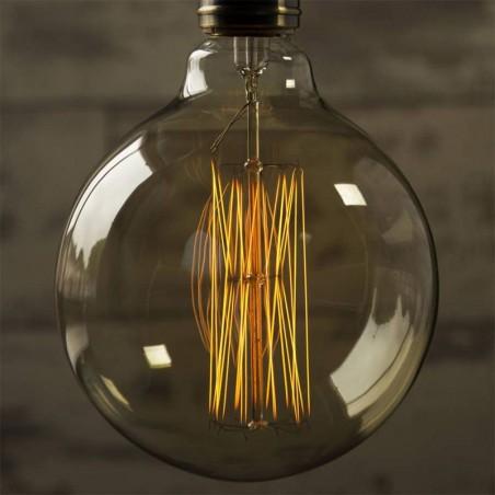 Lampadina Vintage G125 40W GLOBO E27 filament carbon lamp