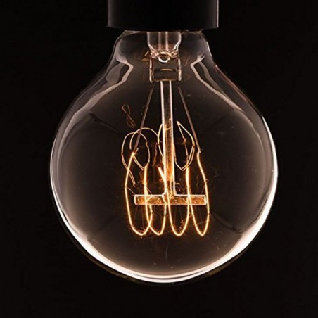 G125 vintage style globe light bulb 40w e27 carbon filament