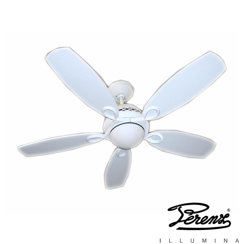 Perenz 7112B Ventilatore 5 Pale Lampadario a Soffitto R7s 100W Bianco