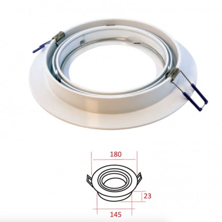 MOLVENO LIGHTING Eclypse LED Recessed Spotlight Adjustable Aluminum AR111
