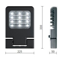 Cariboni small eastern gray LED 21W 2680 lm 4000K Outdoor lighthouse
