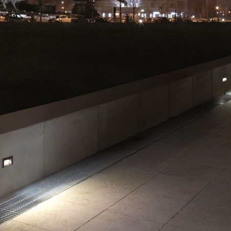 Cariboni FIN XS LED 4W 300lm 3000K Segnapasso Faretto Incasso Esterno Nero