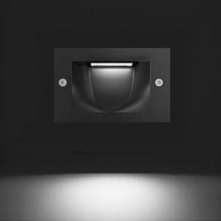 Cariboni FIN XS LED 4W 300lm 3000K Segnapasso Faretto Incasso Esterno Grigio