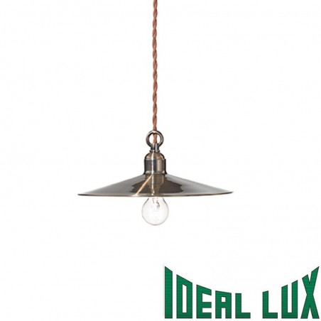 Ideal Lux Cantina SP1 SMALL 40W E14 Pendant Suspension Lamp Brushed Brass