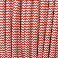 Cavo Elettrico 2X o 3X 10 metri tondo in Tessuto Colore Bianco e Rosso