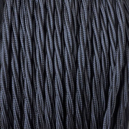 Electrical Twisted Cable 2X o 3X 10 meters in Fabric Black