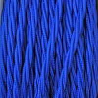Cavo Elettrico 2X o 3X 10 metri Treccia in Tessuto Colore Blu
